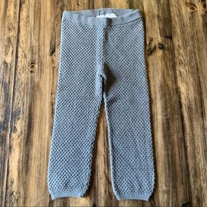 H&M Textured Sweater Knit Leggings Size 1.5-2y